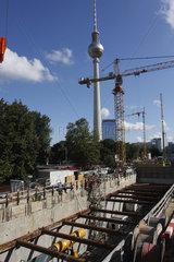Bauschacht der U-Bahnlinie U5