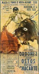 Plakat Stierkampf Bilbao  1962