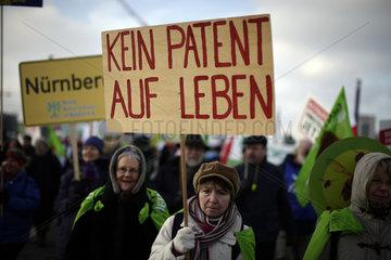 Grossdemonstration gegen Argraindustrie unter dem Motto: Wir haben es satt!