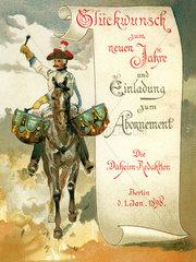 Abonnentenwerbung  Familienzeitschrift Daheim  1898