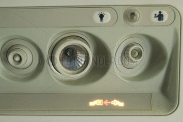 Panel ventilation and lighting for traveling by plane