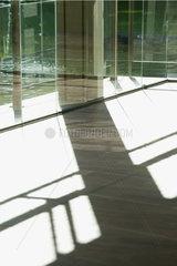 Shadow on lobby floor