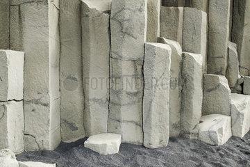 Basalt and black sand  close-up  Iceland