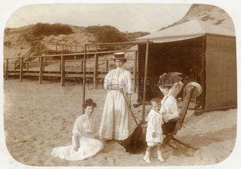 Urlaub in Sylt  Erinnerungsfoto  1909