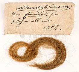 uralte Kinderlocke  1856