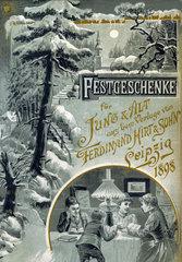 Weihnachtskatalog Buecher  Leipzig  1898