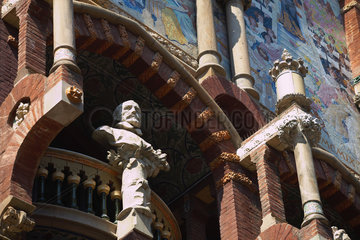 Barcelona (Spain) - Palace of Catalan Music by Domenech i Montaner