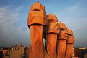 Barcelona (Spain) - Casa Mila by Antoni Gaudi