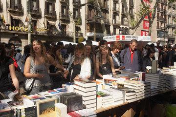 Barcelona (Spain) - UNESCO World Book Day (Sant Jordi Dia)