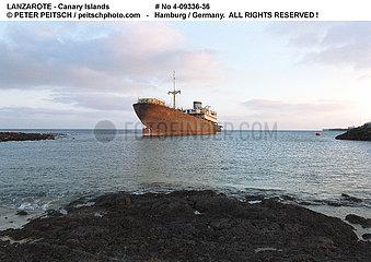 Schiffswrack auf Lanzarote