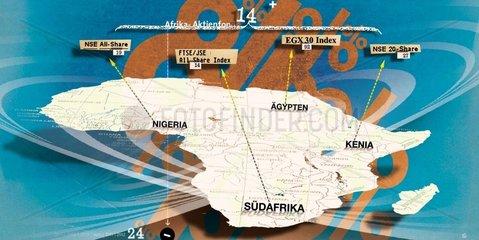 Afrika Afrikanische Boersen Aktienmarkt