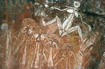 Hoehlenmalerei von Aboriginees