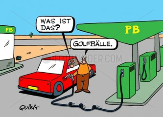 Golfb?lle im Tank