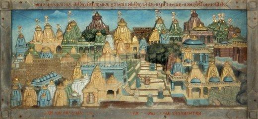 Wandkeramik Jain Tempel Bombay Indien Temple India