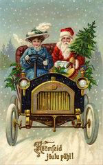 estnische Weihnachtskarte  1909