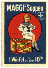 Maggi Suppenwuerfel  Reklamemarke  1910