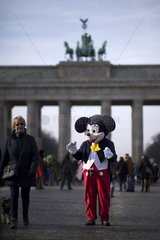 Micky Mouse  Brandenburger Gate Berlin