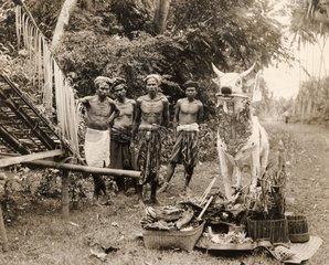 Bali Begraebnisszene 1930