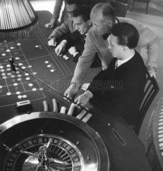 Roulettetisch in einer Spielbank
