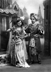 Sultan mit Frau  1900