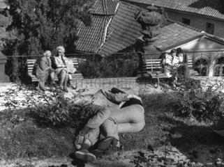 junges Parr knutscht im Park