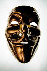 Goldene Anonymous-Maske