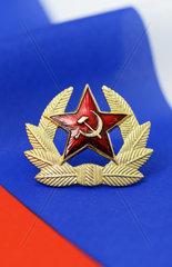 Sowjetstern auf der Fahne von Russland
