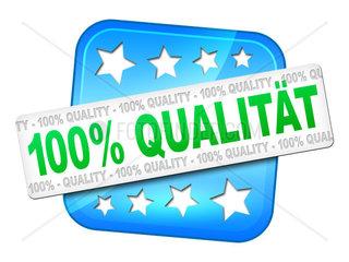 Ein Aufkleber mit Qualitaets-Garantie
