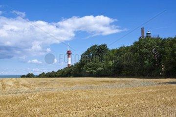 Alter und neuer Leuchtturm Marienleuchte  Insel Fehmarn  Ostsee  Kreis Ostholstein  Schleswig-Holstein  Deutschland  Europa