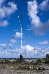 Niobe-Denkmal am Naturschutzgebiet Gruener Brink  Insel Fehmarn  Ostsee  Kreis Ostholstein  Schleswig-Holstein  Deutschland  Europa