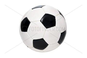 Schwarz-weisser Lederfussball