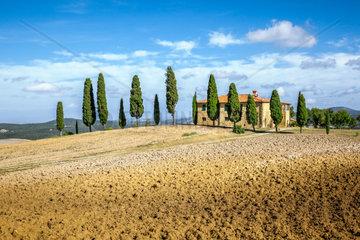 Eine wunderschoene Landschaft in der Toskana