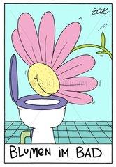Blumen im Bad