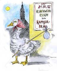 Die Kirchweihgans haut ab