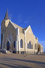 Felsenkirche in Luederitz  Namibia  Afrika