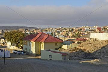Blick von der Felsenkirche ueber Luederitz  Namibia  Afrika