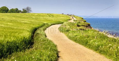 Wanderweg an der Brodtner Steilkueste