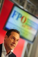 Pressekonferenz mit H.C. Strache. Parteiobmann der Freicheitlichen Partei Oesterreichs