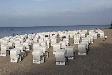 Strandkoerbe im Ruegen