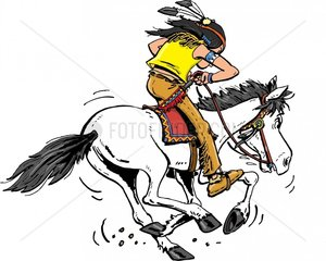 Indianer Reiter Flucht