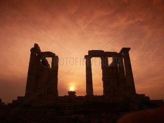 Der Tempel des Poseidon kurz vor Sonnenuntergang