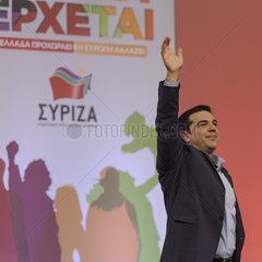 Spitzenkandidat Alexis Tsipras spricht in Thessaloniki