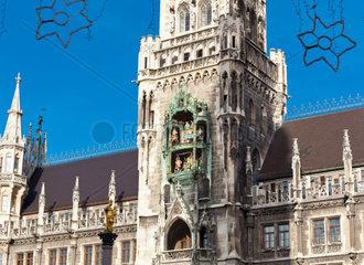 Glockenspiel on the Munich city hall  Germany