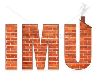IMU italian municipal tax on buildings Isolated on white background