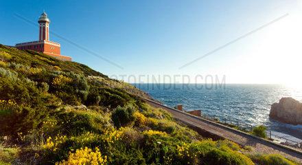 Lighthouse Faro di Punta Carena  Anacapri  Capri island  Italy
