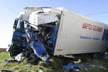 LKW  Lastwagen Unfall