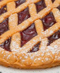 Sweet tart with cherry jam