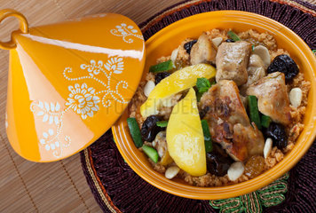 Moroccan chicken with lemon confit