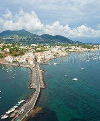 view of Ischia Ponte  Ischia island  Italy