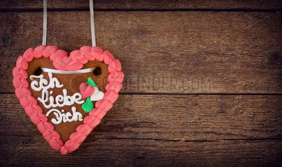 Lebkuchenherzen  gingerbread Heart cookie  typical souvenir of German